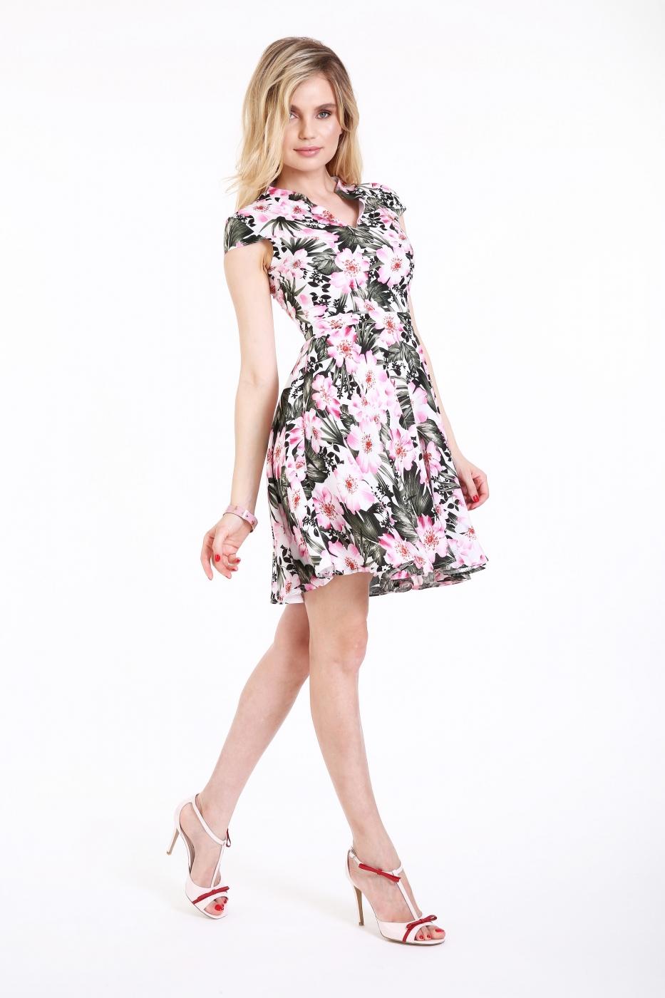 Rochie Roserry clos cu imprimeu floral