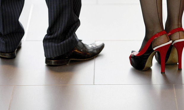 Shoes of man and woman