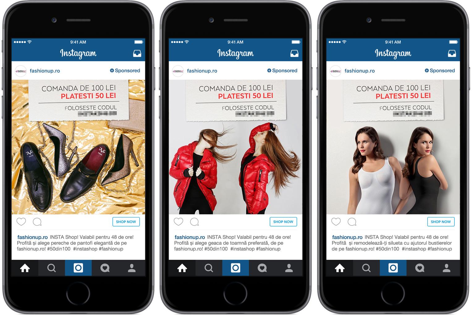 campanie promovare instagram ads fashionup