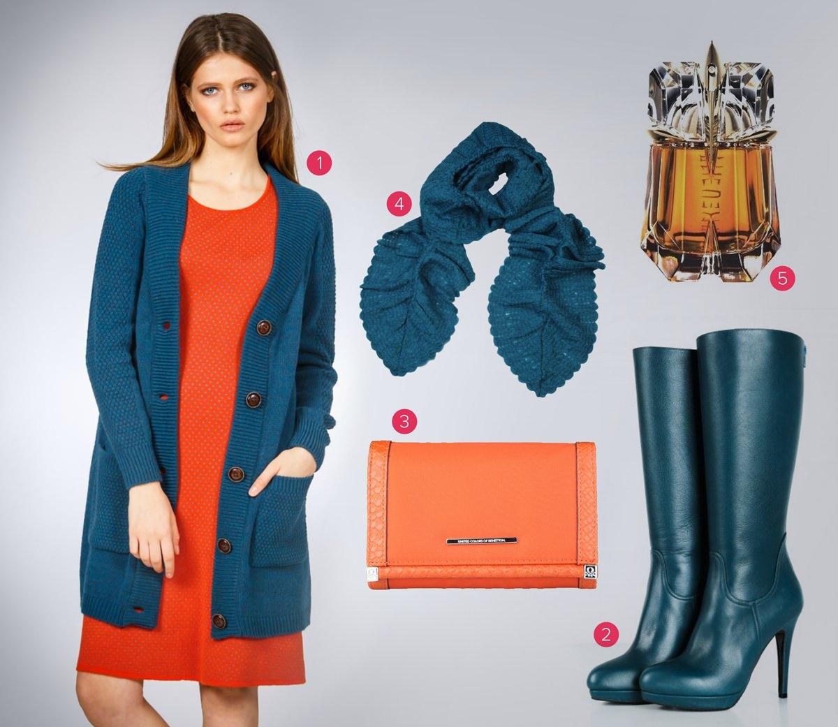 Combinație de verde și portocaliu - FashionUP