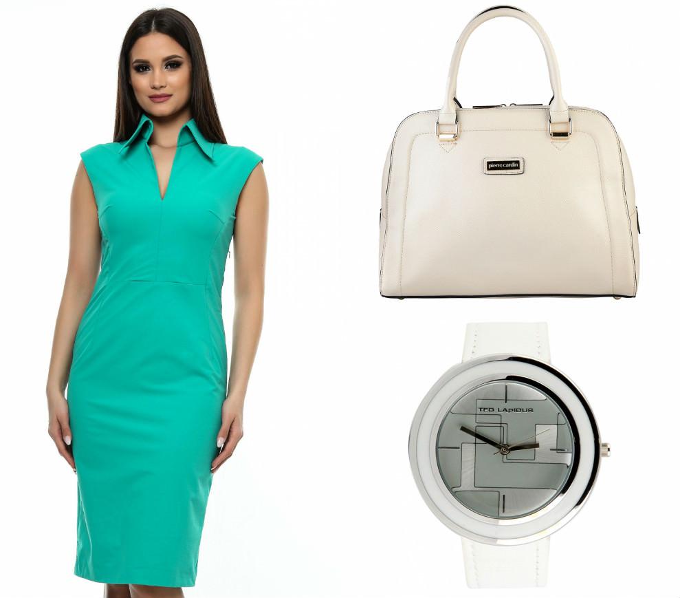 Combină rochiile turcuaz cu accesorii albe! - FashionUP