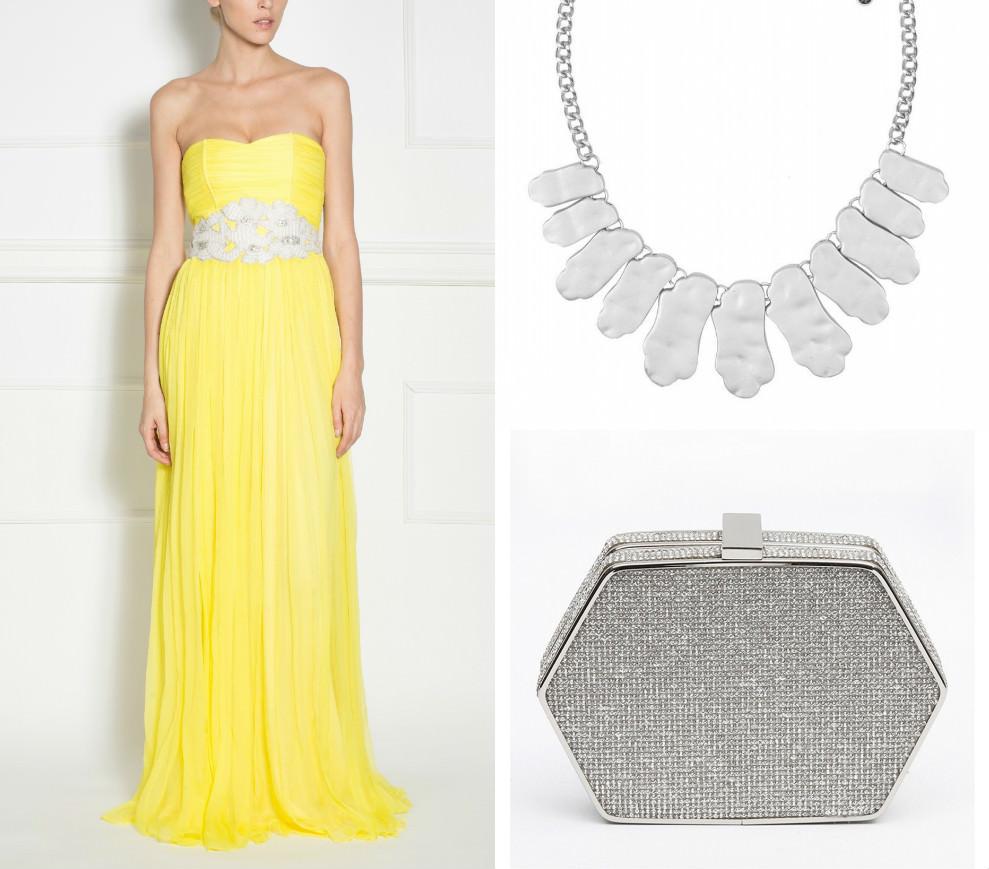 O rochie galbenă este accesorizată perfect cu accesorii argintii! - FashionUP