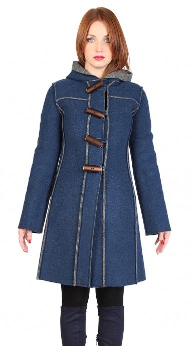 Palton pentru femei marca Fontana 2.0 MARTA bleumarin FashionUP