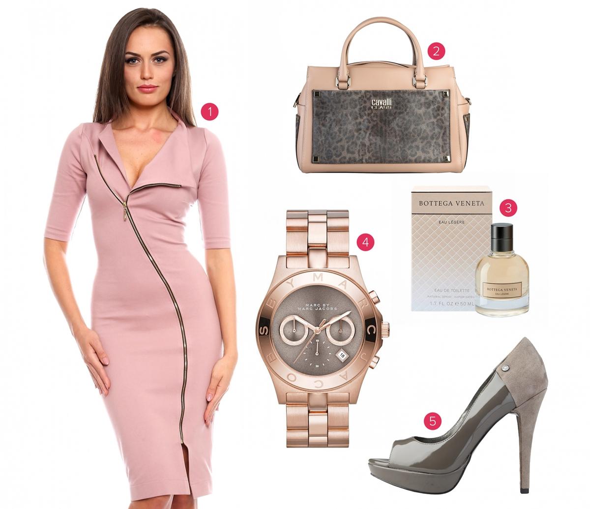 Combinație de roz și gri - FashionUP