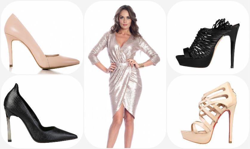 Sugestii Pantofi FashionUP pentru rochia cu paiete