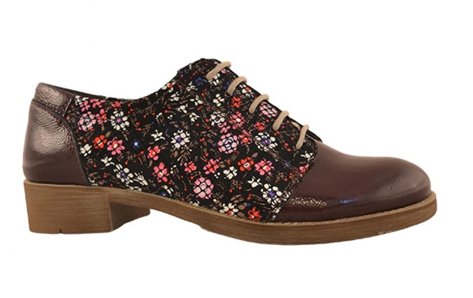 Pantofi MOPIEL vișinii cu print - FashionUP!